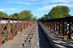 Le pont de fer sur le Vidourle