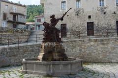 Ghisoni, la statue de neptune