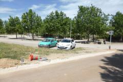 Le parking avant le port fluvial