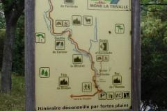 Panneau indicatif de l'itinéraire
