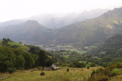 Splendide paysage sur les Pyrénées
