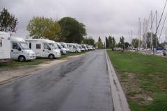 L'aire  camping-cars à Mortagne-sur Gironde