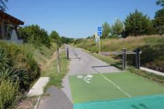 Passage de la voie verte à Saint-Dionisy