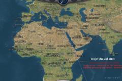 Carte du vol Orly la Réunion