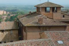 Sienne, toitures toscanes