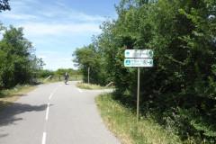 L'entrée de la voie verte dans Vauvert